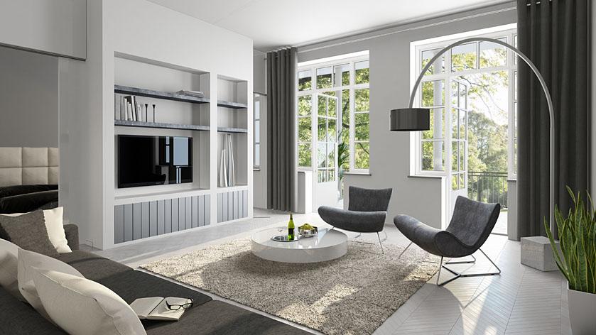 Witte woonkamer inrichten jouw woonkamer landelijk for Gratis tekenprogramma interieur