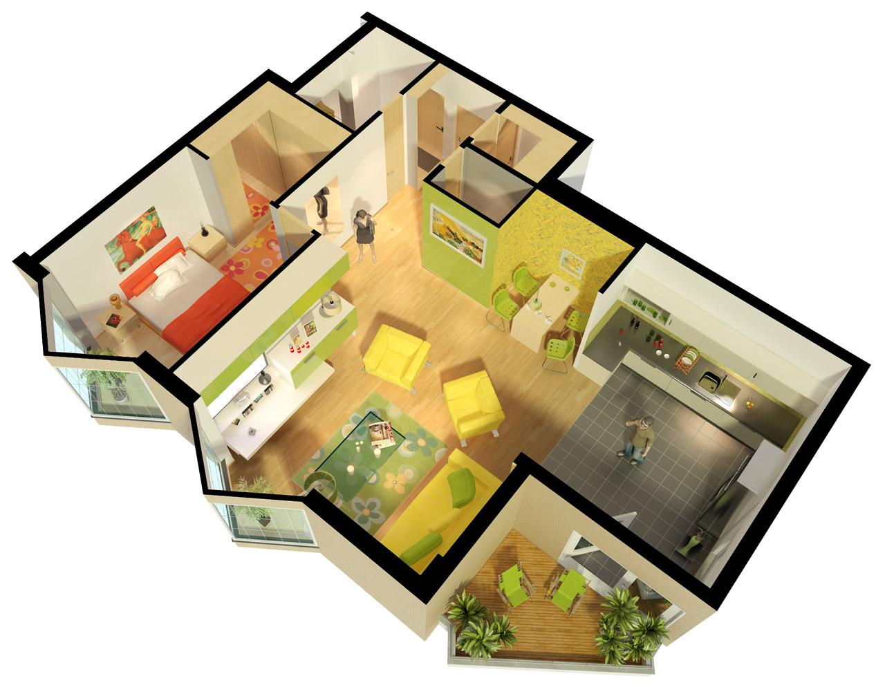 3d exterieur 3d interieur 3d plattegrond 3d maquette 3d for 2d plattegrond maken