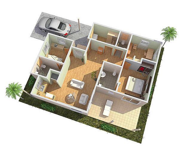 Tekenbureau 3d fotorealistische presentatie van for Huis in 3d ontwerpen