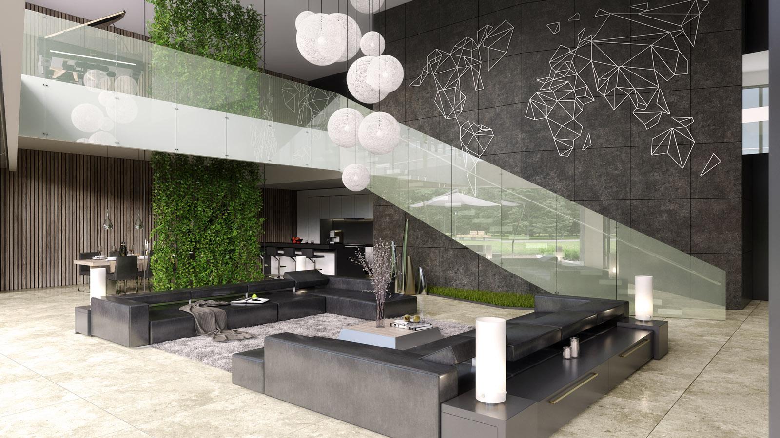 Luxe Interieur Ontwerp : D interieur ontwerpvisualisatie luxe woning choro