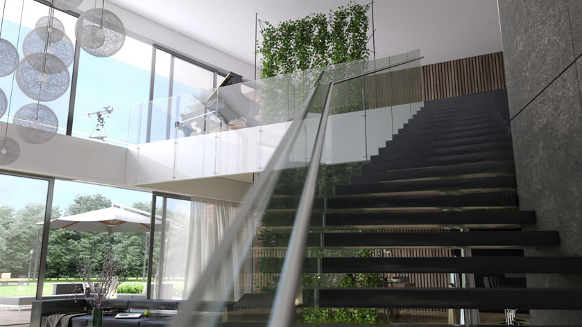 D interieur ontwerpvisualisatie luxe woning choro