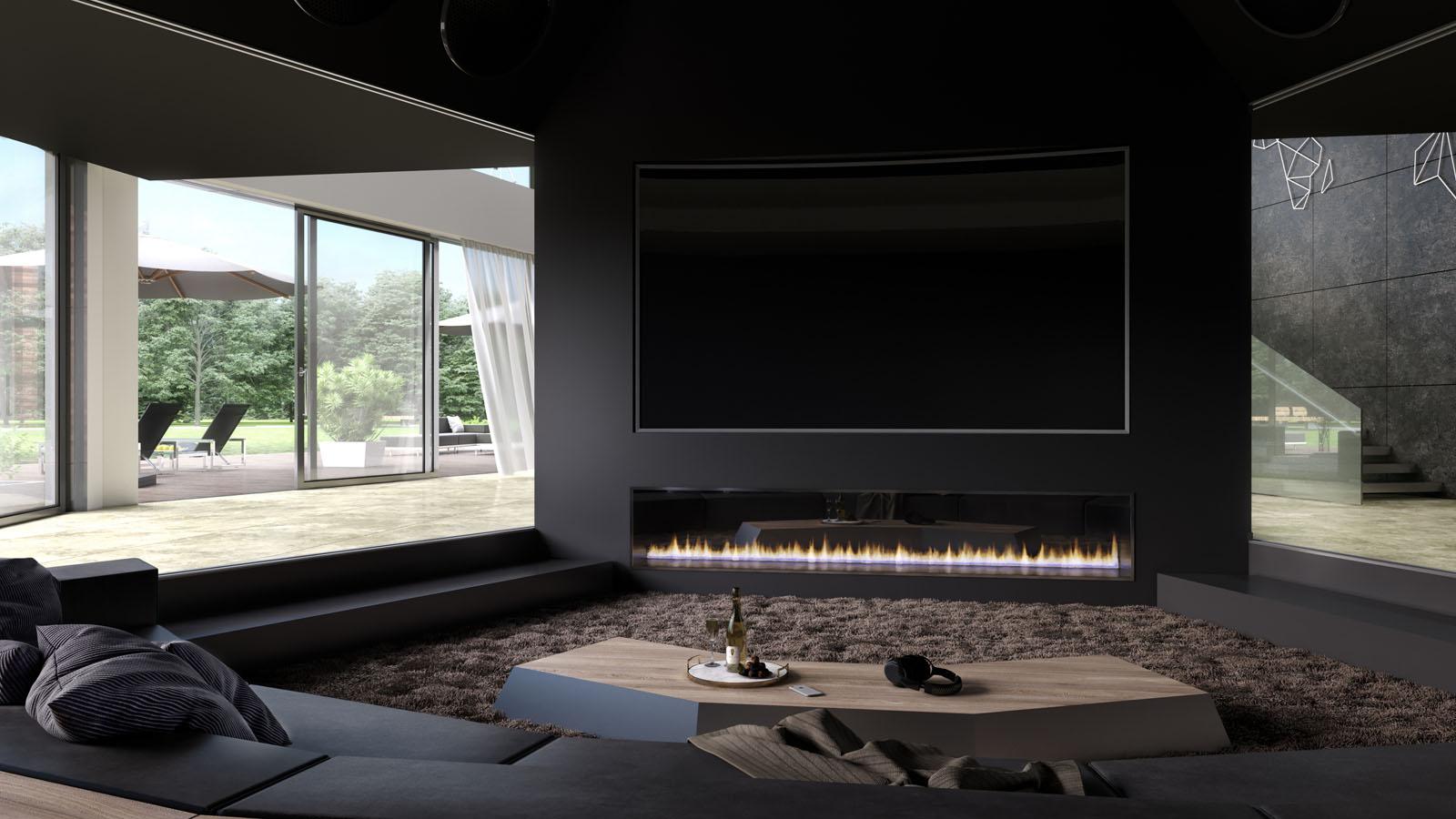 3d interieur ontwerpvisualisatie luxe woning choro. Black Bedroom Furniture Sets. Home Design Ideas