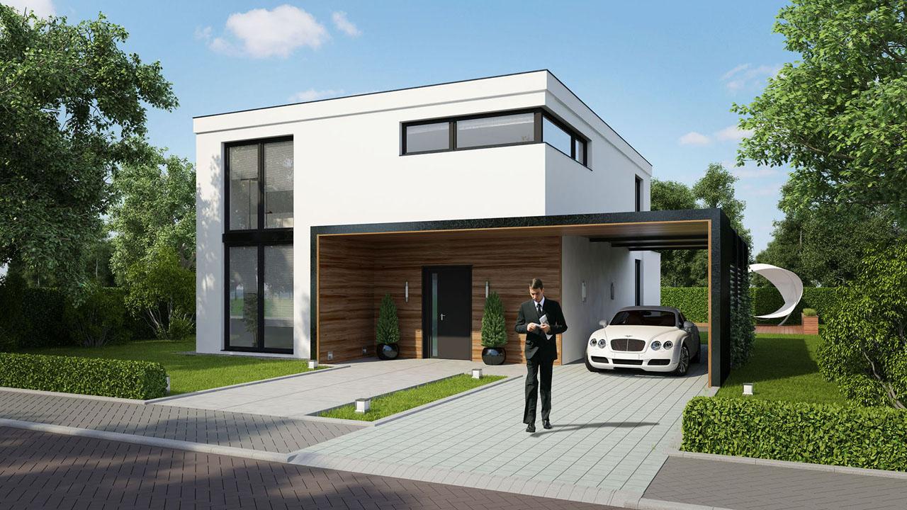 Choro 3d visualisatie studio artist impression van for Kleine huizen bouwen