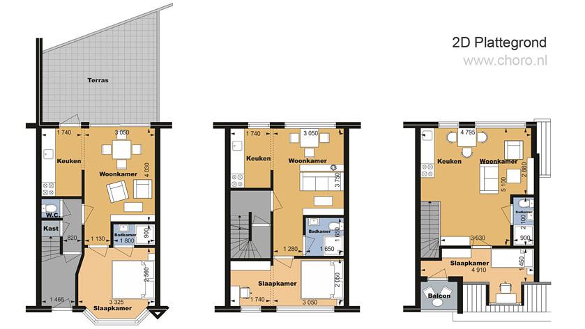 Plattegrond laten maken ter promotie van uw vastgoed choro for Plattegrond huis tekenen