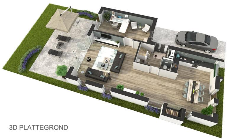 Fotorealistische 3d plattegrond laten maken voor uw for Huis ontwerpen 3d