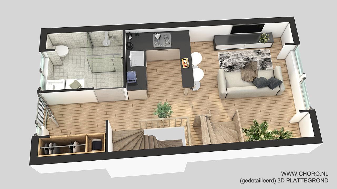 Fotorealistische 3d plattegrond laten maken voor uw for 2d plattegrond maken