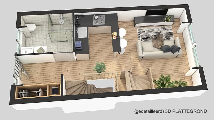 Fotorealistische 3d plattegrond laten maken voor uw for 3d interieur ontwerpen