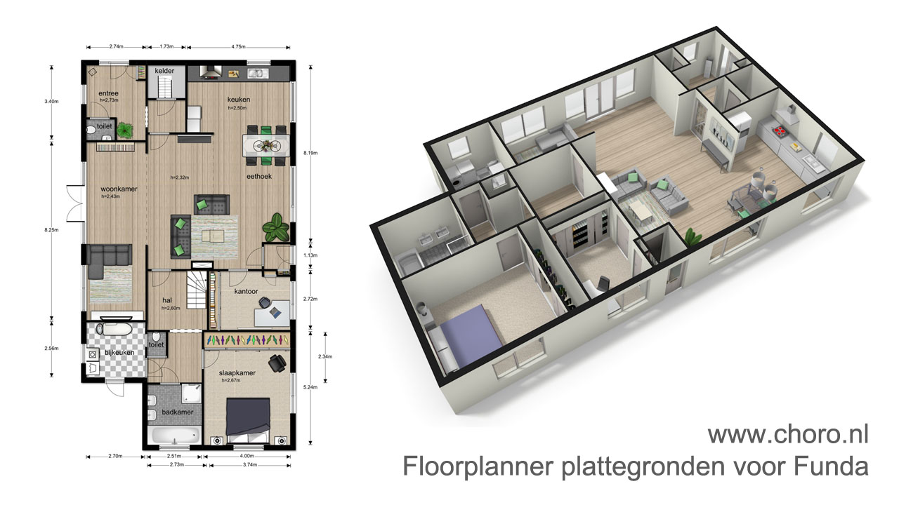 Professionele plattegrond laten maken voor funda met fml for Plattegrond van je huis maken