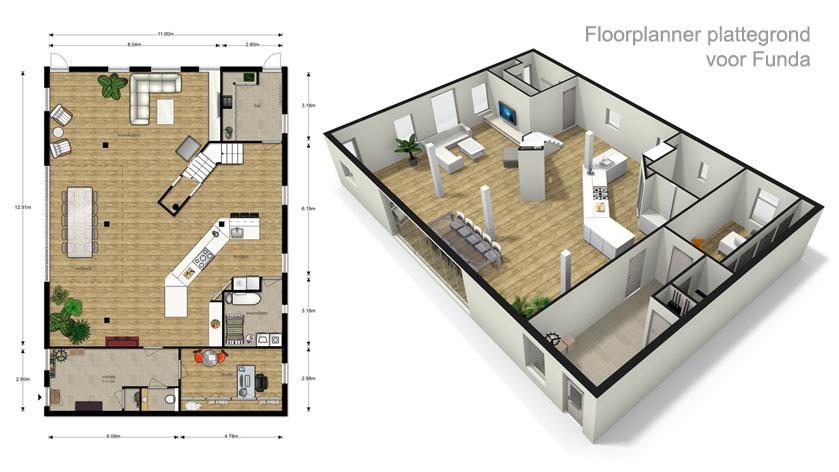 Professionele plattegrond laten maken voor funda met fml for Huis hypotheekvrij maken