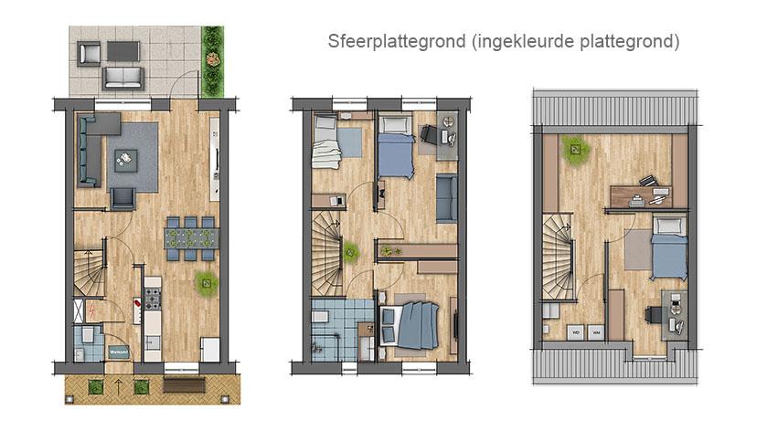 Plattegrond laten maken ter promotie van uw vastgoed choro for Starterswoning rotterdam